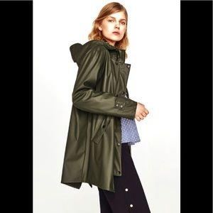 Zara Hooded Rain Coat SZ Small